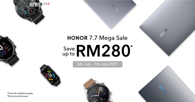 HONOR Shopee 7.7 sale starts now: Discounts on laptops and wearables