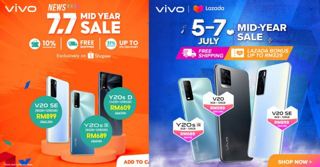 vivo Lazada and Shopee 7.7 Sale – Get up to RM1,000 off a powerful phone!