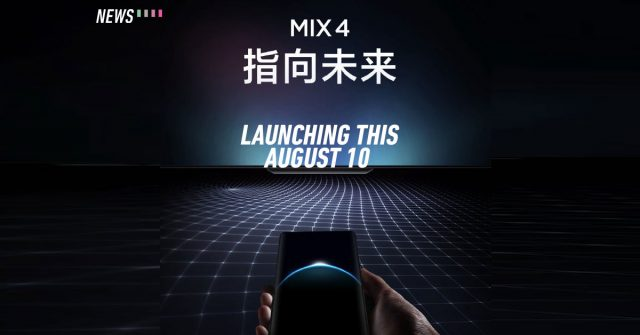 Xiaomi Mi Mix 4 to launch this August 10: Rumored to come with in-screen selfie lens