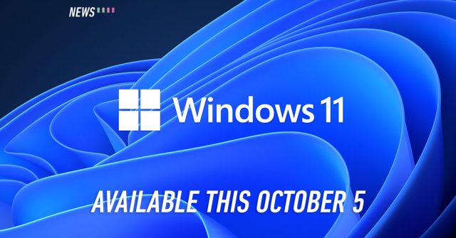 Windows 11 will officially be available this October 5