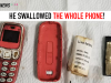 Nokia 3310 lookalike removed from man's stomach after he swallow it whole