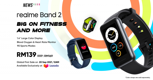 realme Band 2 debuts in Malaysia with SpO2 tracker and 90 sports mode