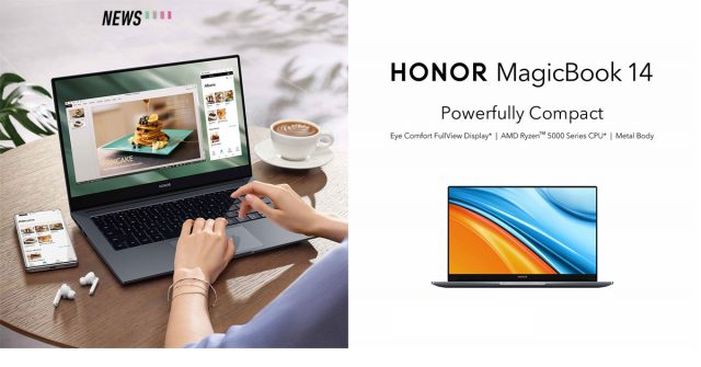 HONOR MagicBook 14 AMD to go on sale this 1 October: Comes with AMD Ryzen 5 5500U